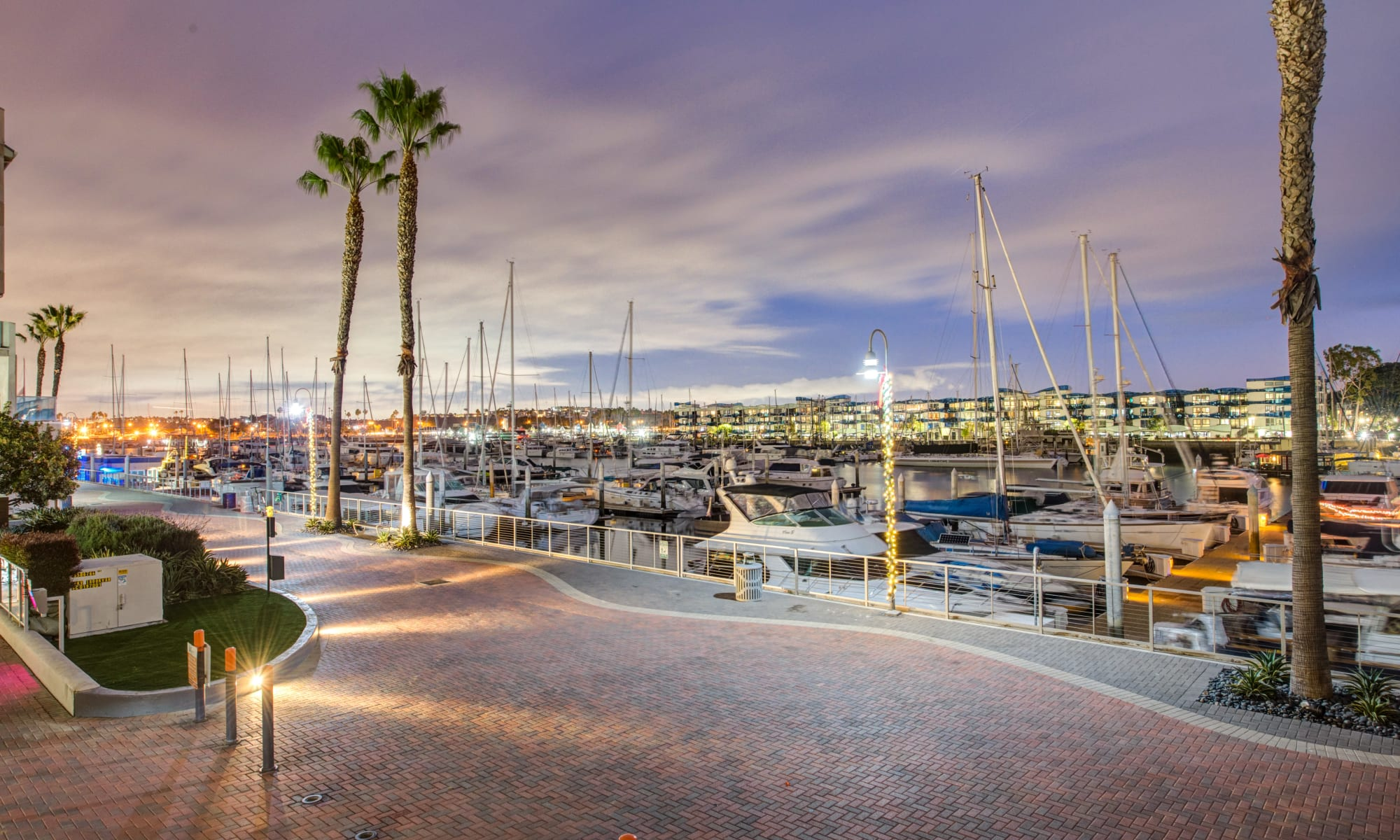 Beautiful skies at Esprit Marina del Rey in Marina Del Rey, California