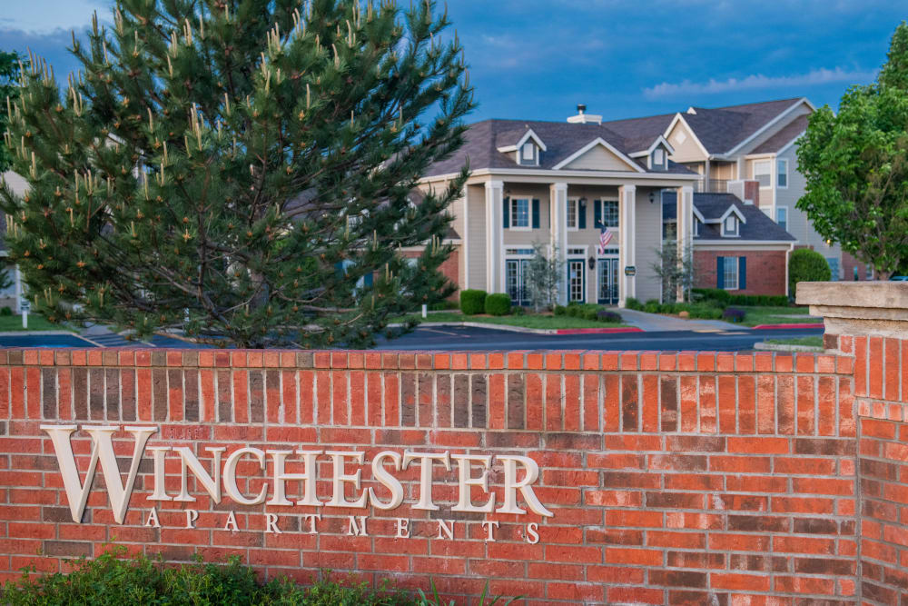 Exterior of Winchester Apartments in Amarillo, Texas
