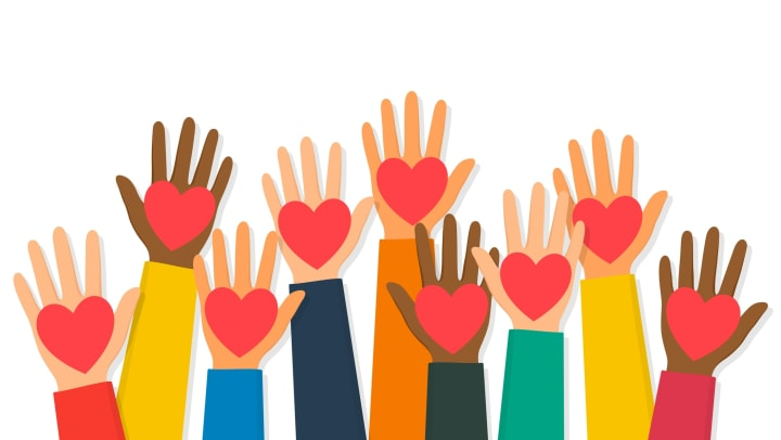 Illustration of hands with hearts in them in San Antonio, Texas near Tacara at Westover Hills