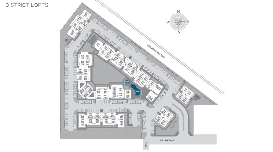 District Lofts site plan