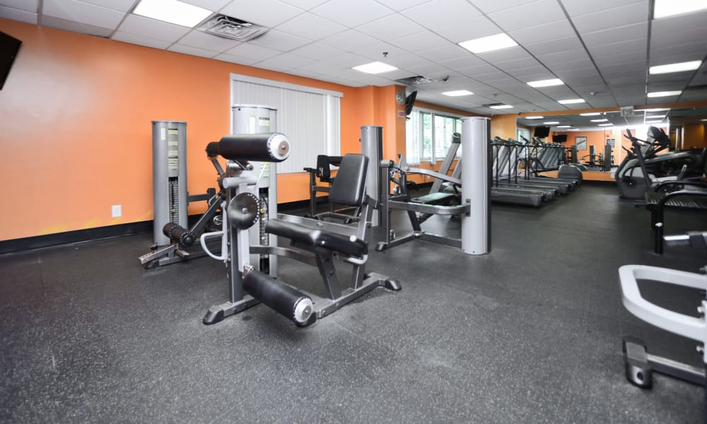 Fitness center at Towers of Windsor Park Apartment Homes in Cherry Hill, NJ