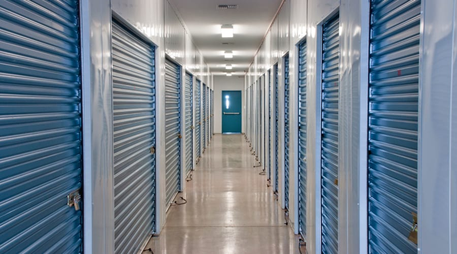 Exterior of outdoor units at KO Storage of Azle in Azle, Texas
