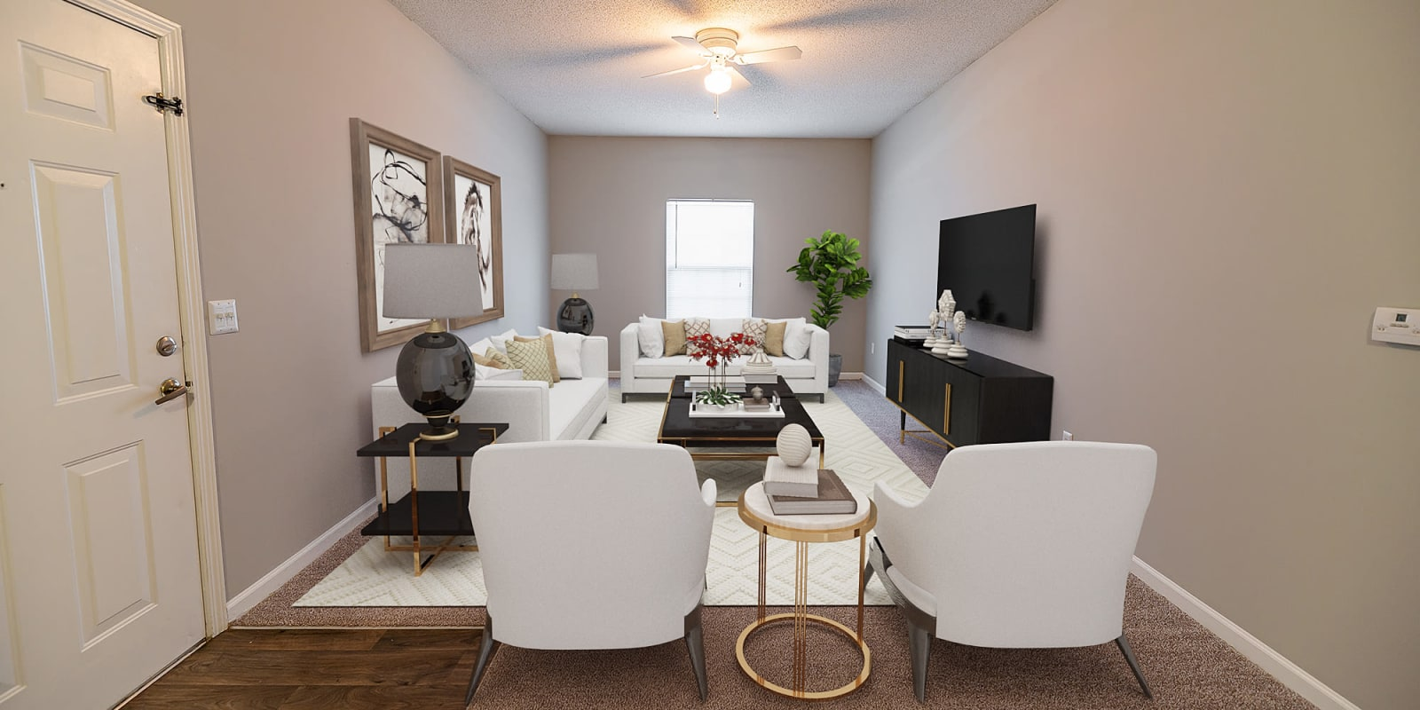 Living Room at Clemmons Station Apartment Homes in Clemmons, North Carolina