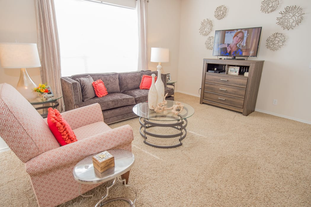 Wonderful living room at Prairie Springs in Oklahoma City, Oklahoma