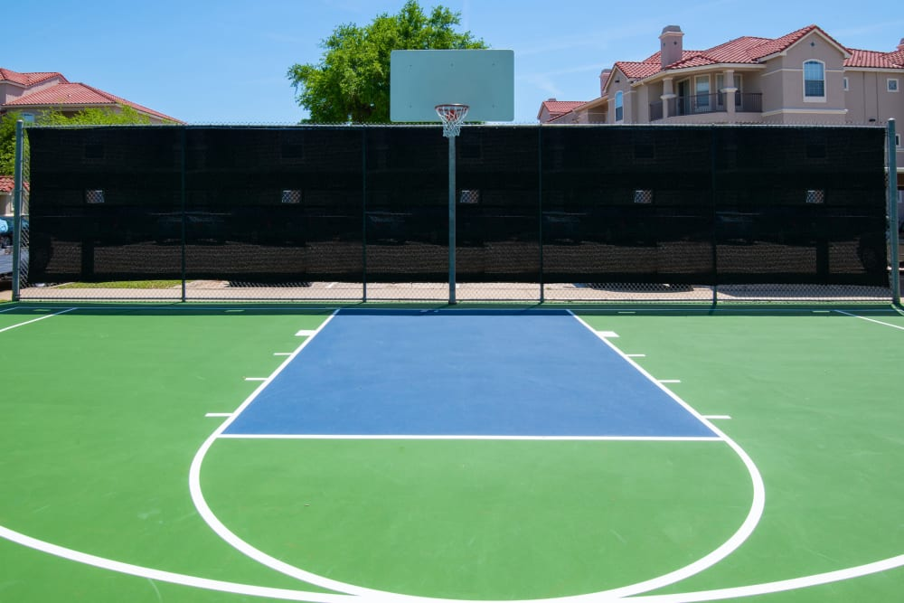 Our Apartments in Lewisville, Texas offer a Basketball Court