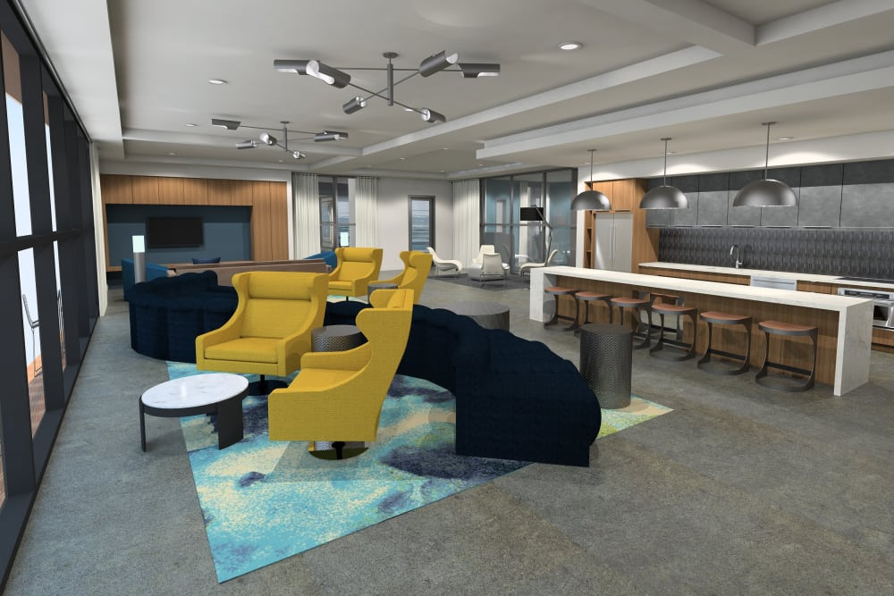 Luxury living room at apartments in Chandler, Arizona