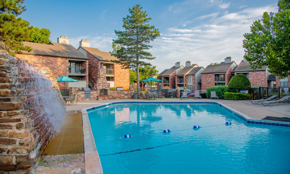 Beautiful pool at Warrington Apartments in Oklahoma City, Oklahoma