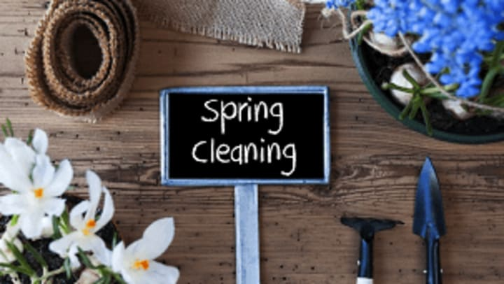 Spring cleaning sign.