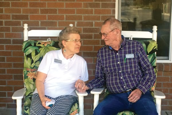 Melvin and Marge Schrank at Salmon Creek in Boise, Idaho