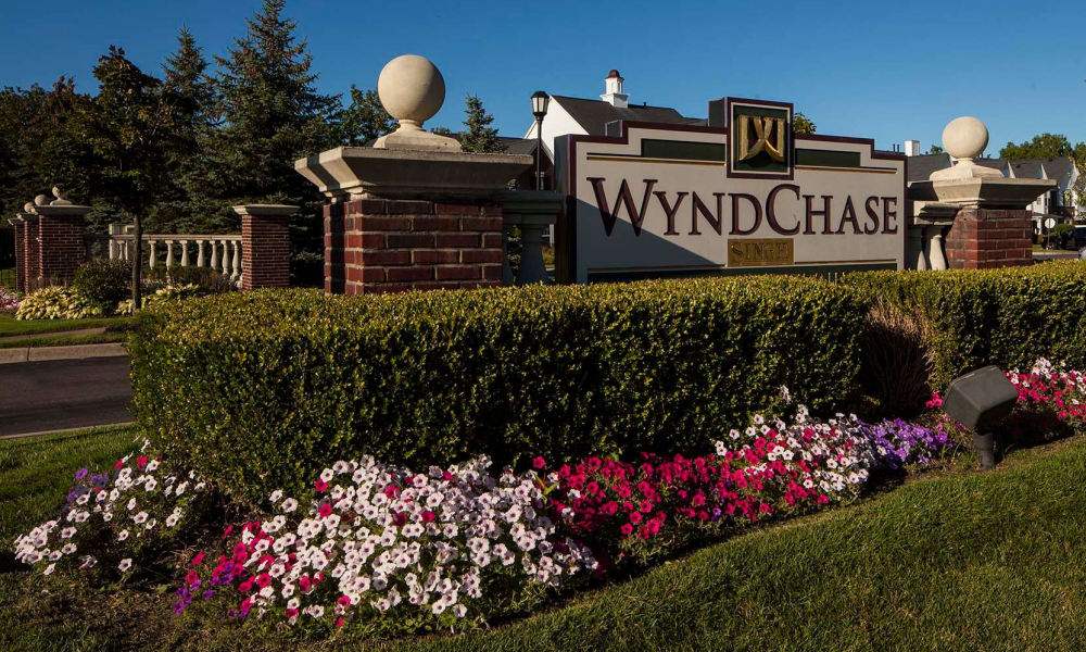 Signage at Wyndchase in Canton, MI