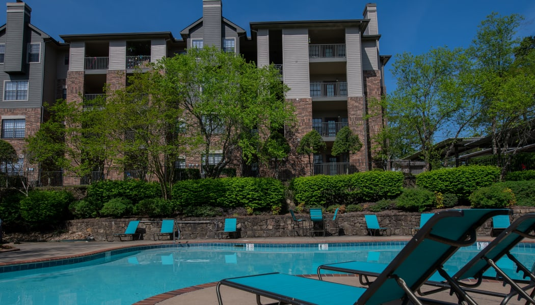 The pool at Arbors of Pleasant Valley in Little Rock, Arkansas