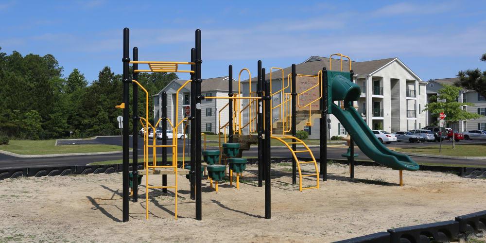 Playground for children at Ashton Park Apartments in Gulfport, Mississippi