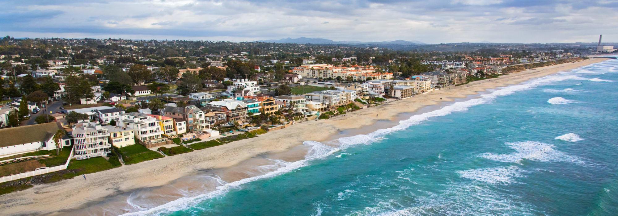 A beach near Smart Self Storage of Solana Beach in Solana Beach, California