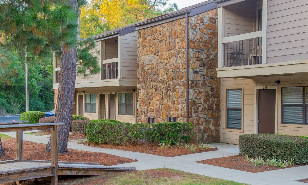Wonderful courtyard at Sunchase Ridgeland Apartments in Ridgeland, Mississippi