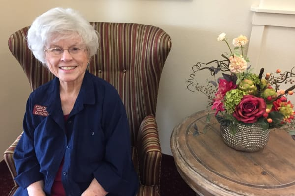 Resident Dorothy Sanders at Alexis Estates Gracious Retirement Living in Allen, Texas