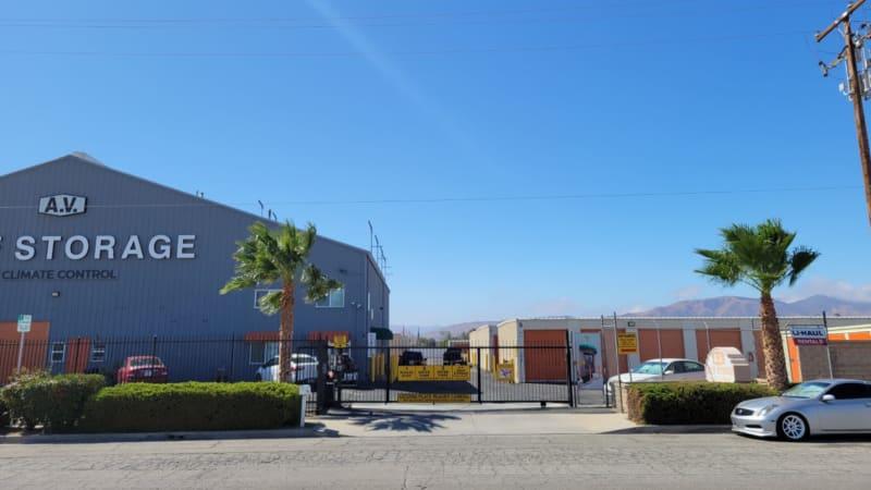 Gated entry at AV Self Storage in Palmdale, CA
