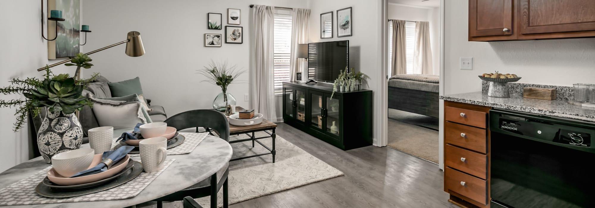 Floor plans at Landmark Apartments Hattiesburg