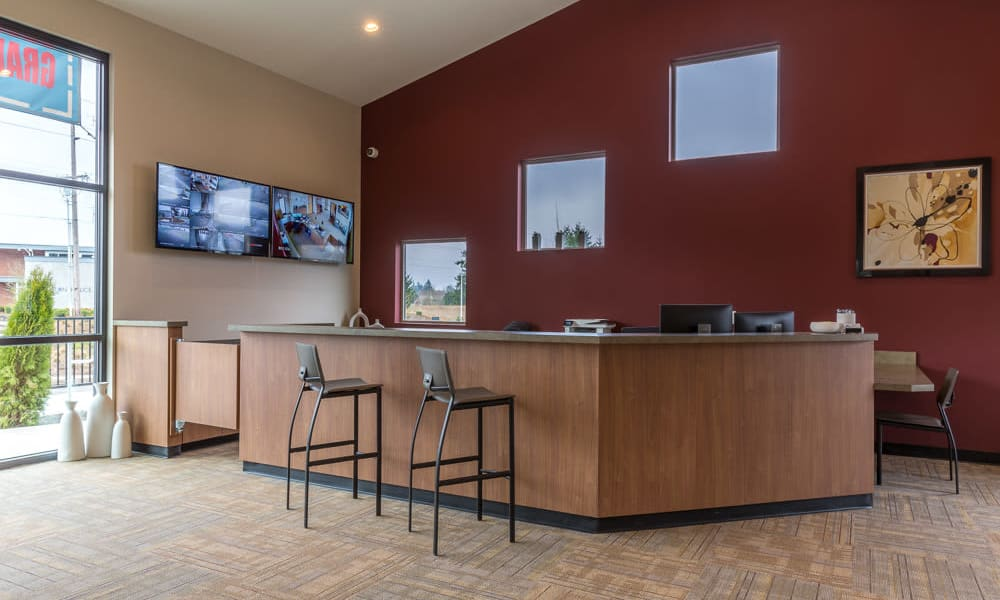 Office interior at Mt. Hood Self Storage in Woodburn, Oregon