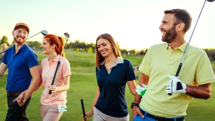 People golfing near Carrington Oaks in Buda, Texas