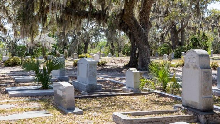 Historic cemetery in Savannah