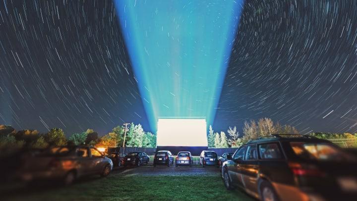 Drive-in theater near Lux on Main in Carrollton, Texas