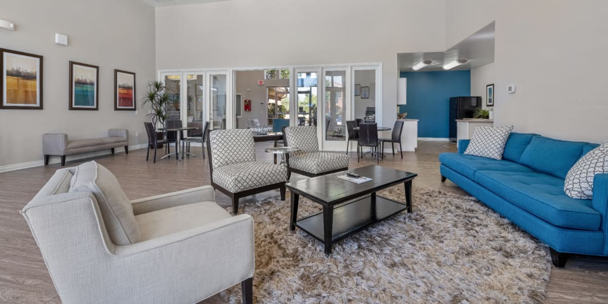Clubhouse interior area at CWS Apartment Homes in Austin, Texas