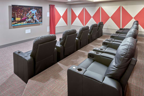 Binge watch at our onsite theater at The Maverick in Burien, WA
