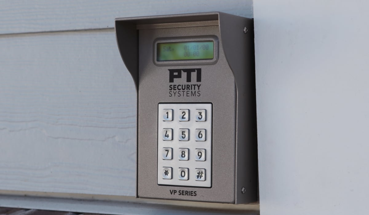 Security pad to enter our facility at Midgard Self Storage in Murrells Inlet, South Carolina