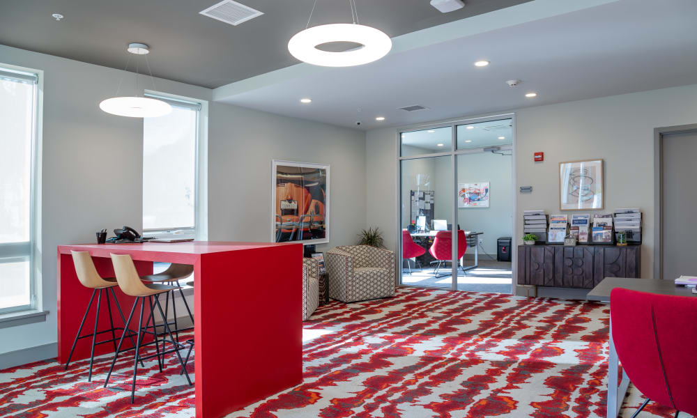 Business Center at 50 Front Luxury Apartments in Binghamton, New York