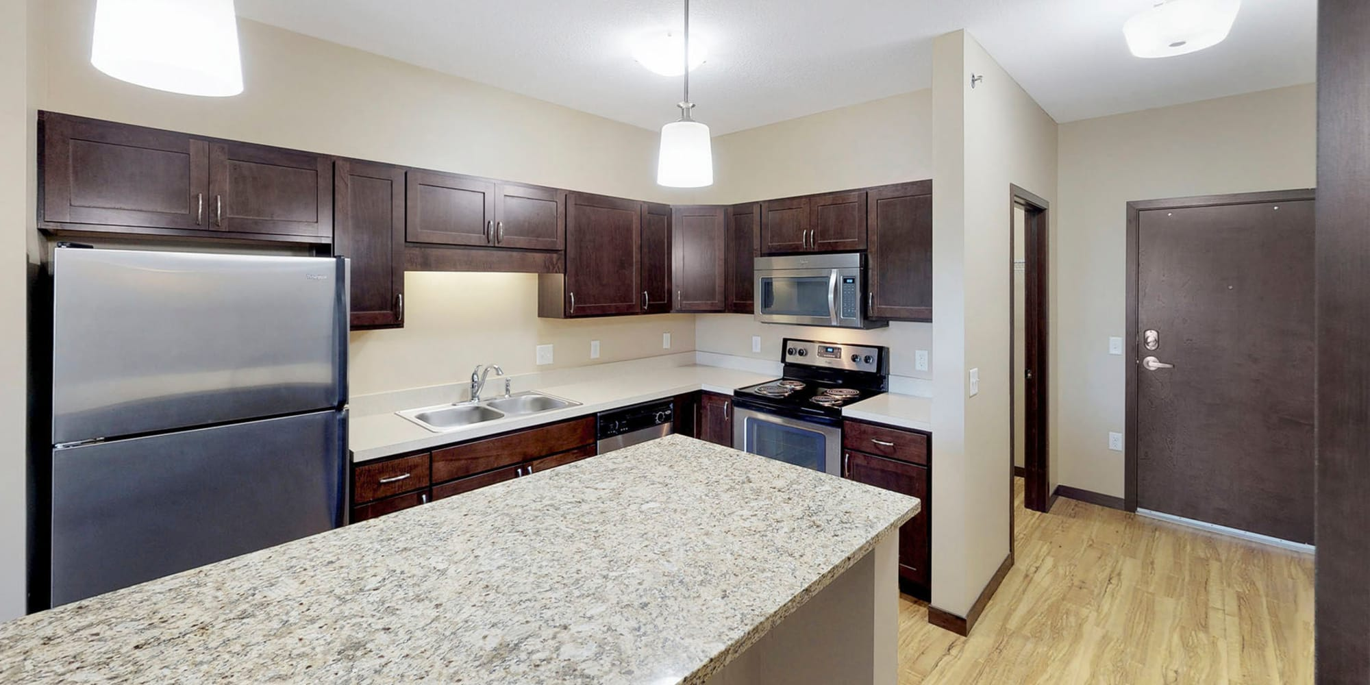 Luxury apartments at Oaks Station Place in Minneapolis, Minnesota