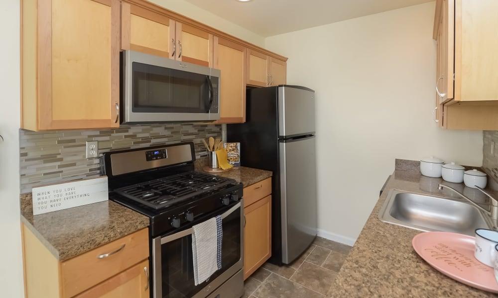 Spacious Kitchen at Hill Brook Place Apartments in Bensalem, Pennsylvania