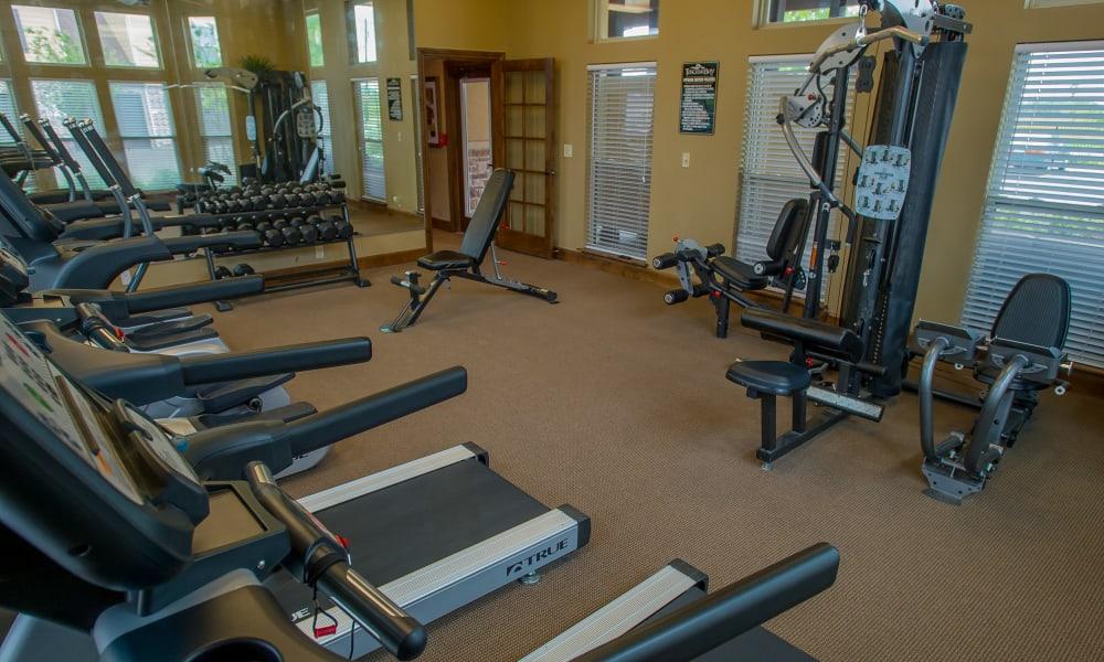 Bright fitness center at Tuscana Bay Apartments in Corpus Christi, Texas