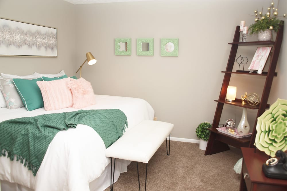 Comfortable bedroom at Fox Chase South in Southgate, Kentucky