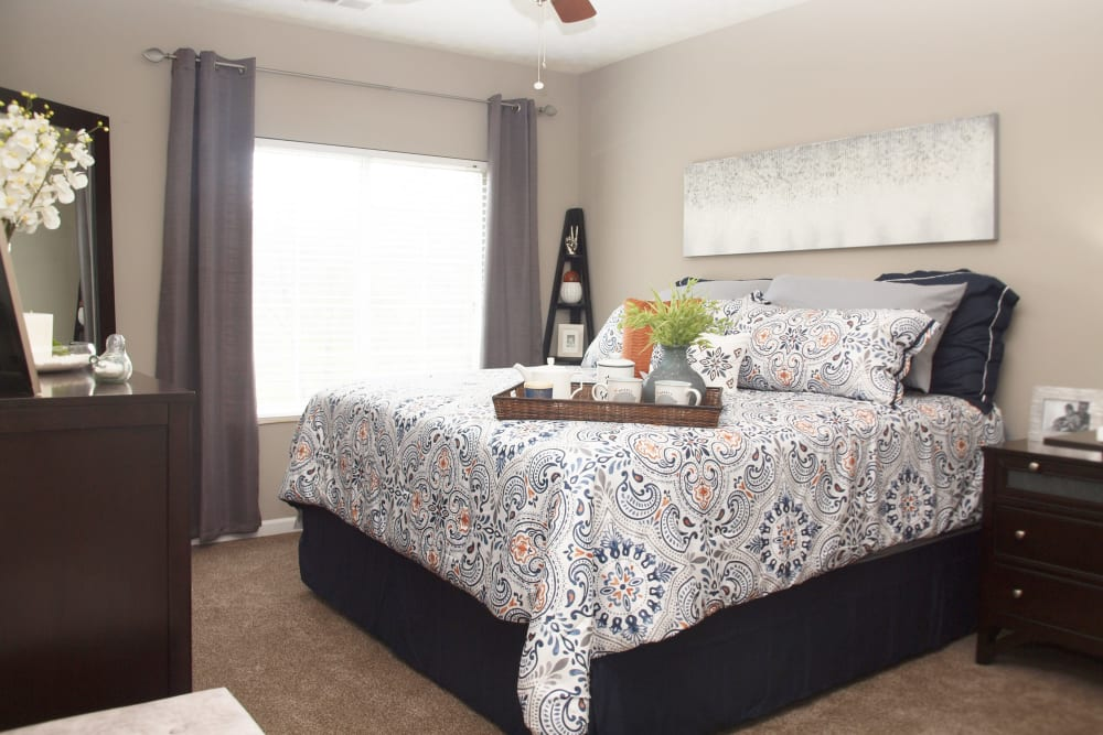 Bedroom at Waterford Place in Loveland, Ohio