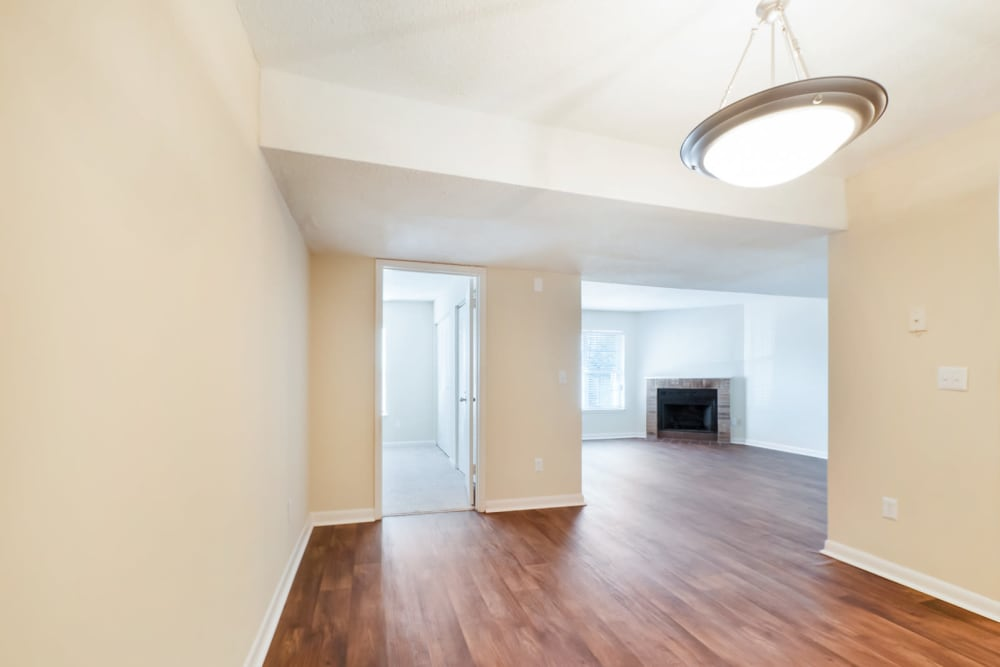 Hardwood style flooring layout at The Hills at Oakwood in Chattanooga, Tennessee