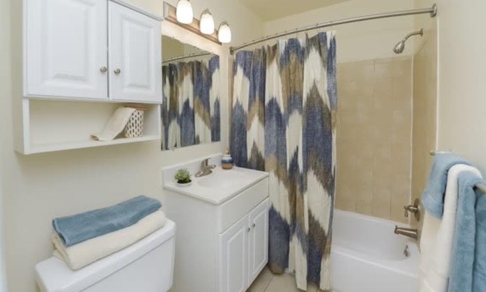 Bathroom at Hill Brook Place Apartments in Bensalem, Pennsylvania