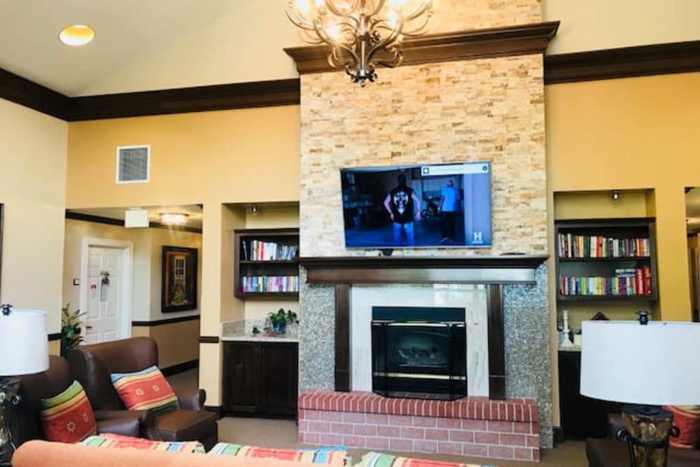 Spacious living room at Pacifica Senior Living Hemet in Hemet, CA