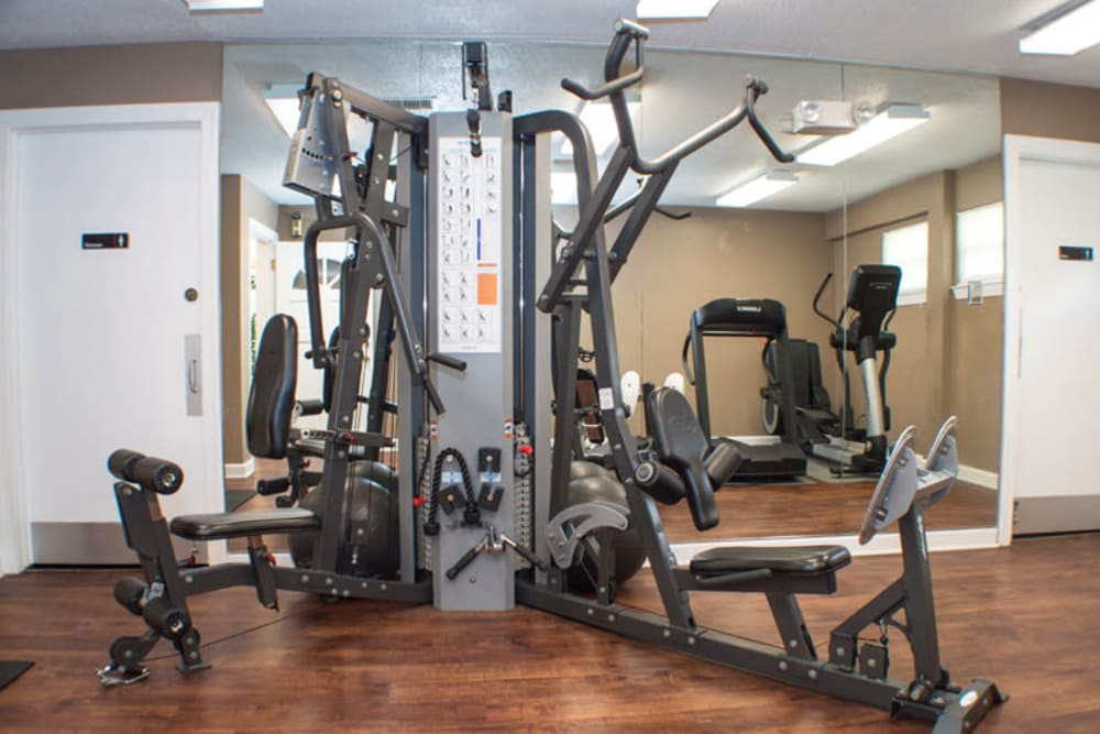 Fitness center at Laurel Pines Apartments in Richmond, Virginia