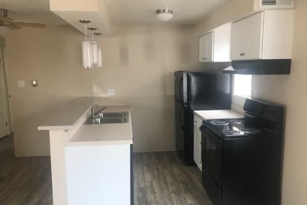 Our apartments in Denver, Colorado, showcase a modern kitchen