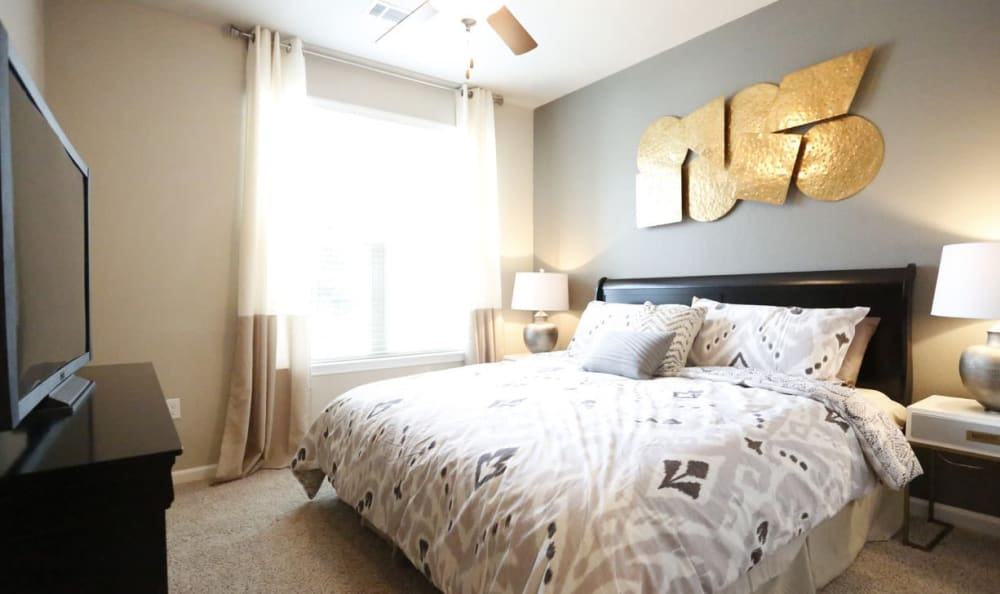 master bedroom at Springs at Country Club Apartments in Lake Charles, LA