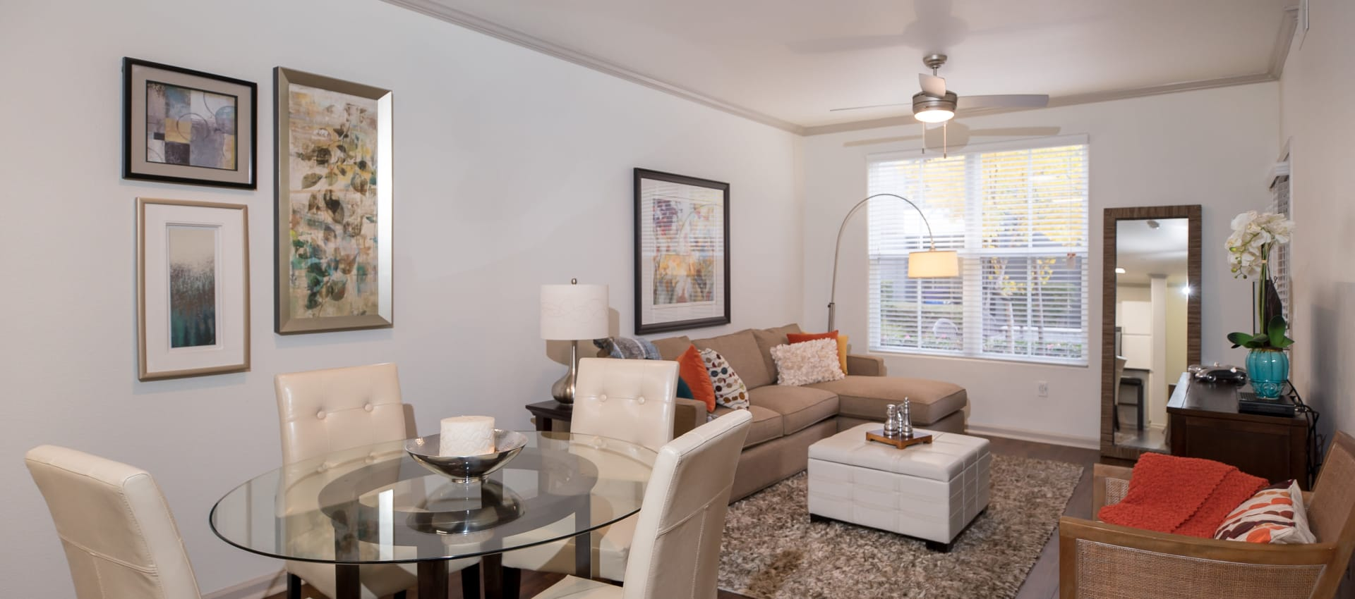 Living room at Park Central in Concord, California