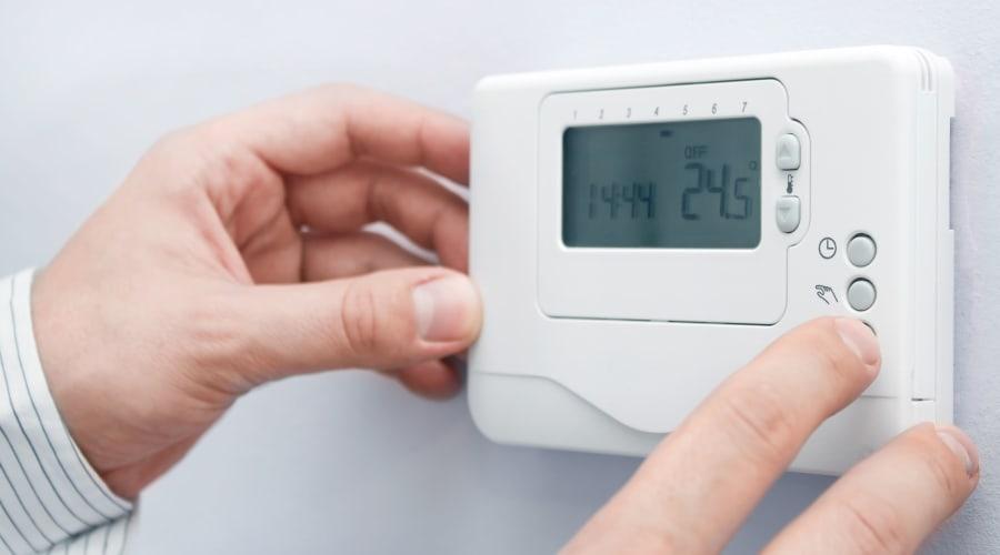 Thermostat for temperature control at KO Storage of Jamestown - North in Jamestown, North Dakota