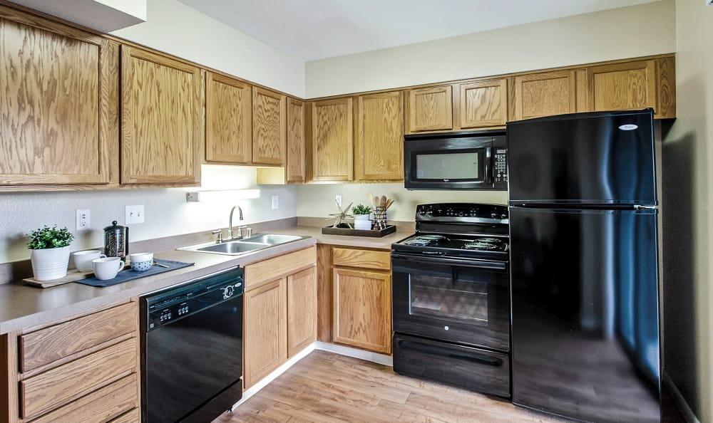 Kitchen view 2 at Broadmoor Ridge Apartment Homes in Colorado Springs, Colorado