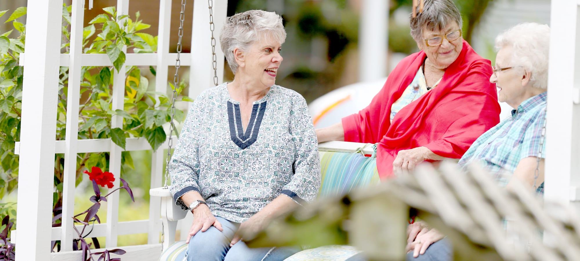 Senior living at Providence Assisted Living in Clarksville, Arkansas.