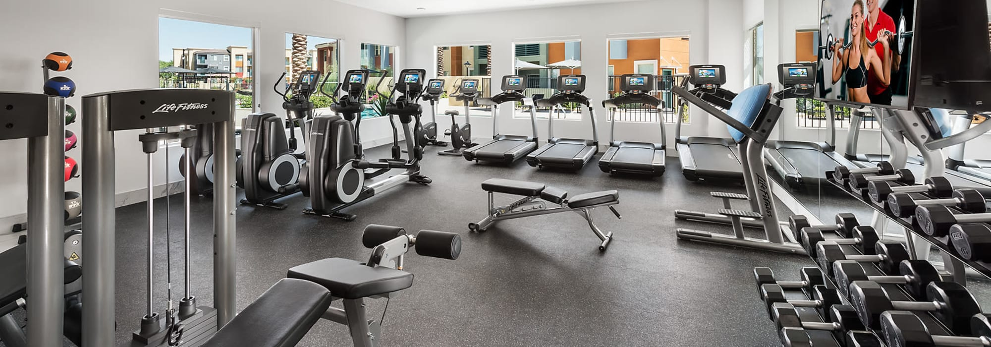 Resort style fitness center at Villa Vita Apartments