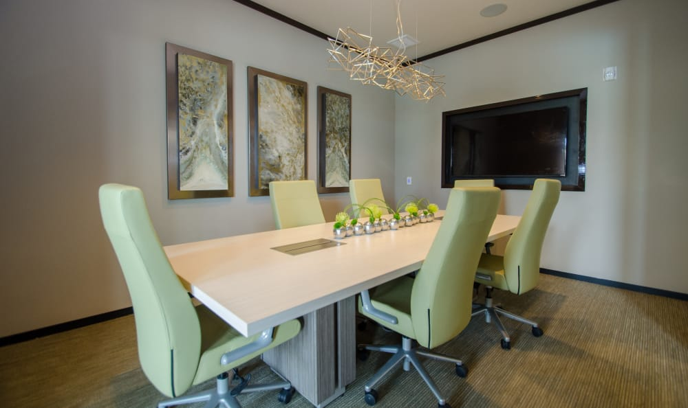 Conference room at GreenVue Apartments