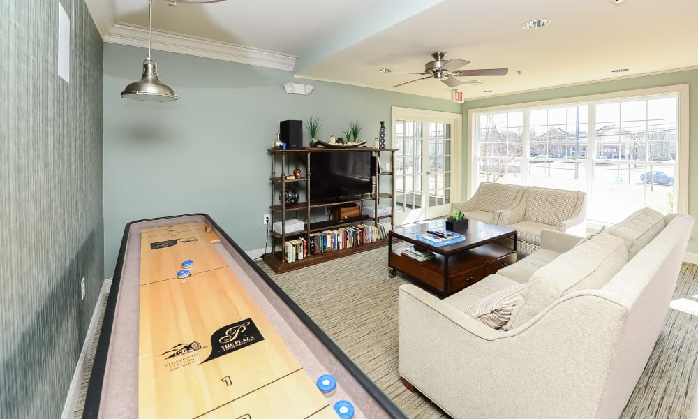 Indoor Lounge area at Strafford Station Apartments in Wayne, Pennsylvania