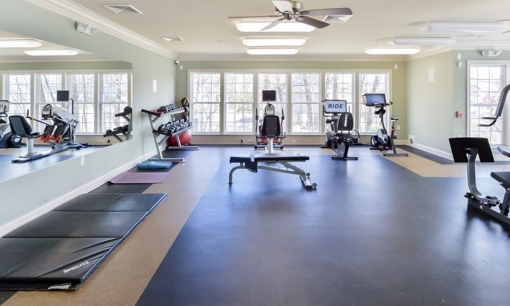 Fitness Center at Strafford Station Apartments in Wayne, Pennsylvania