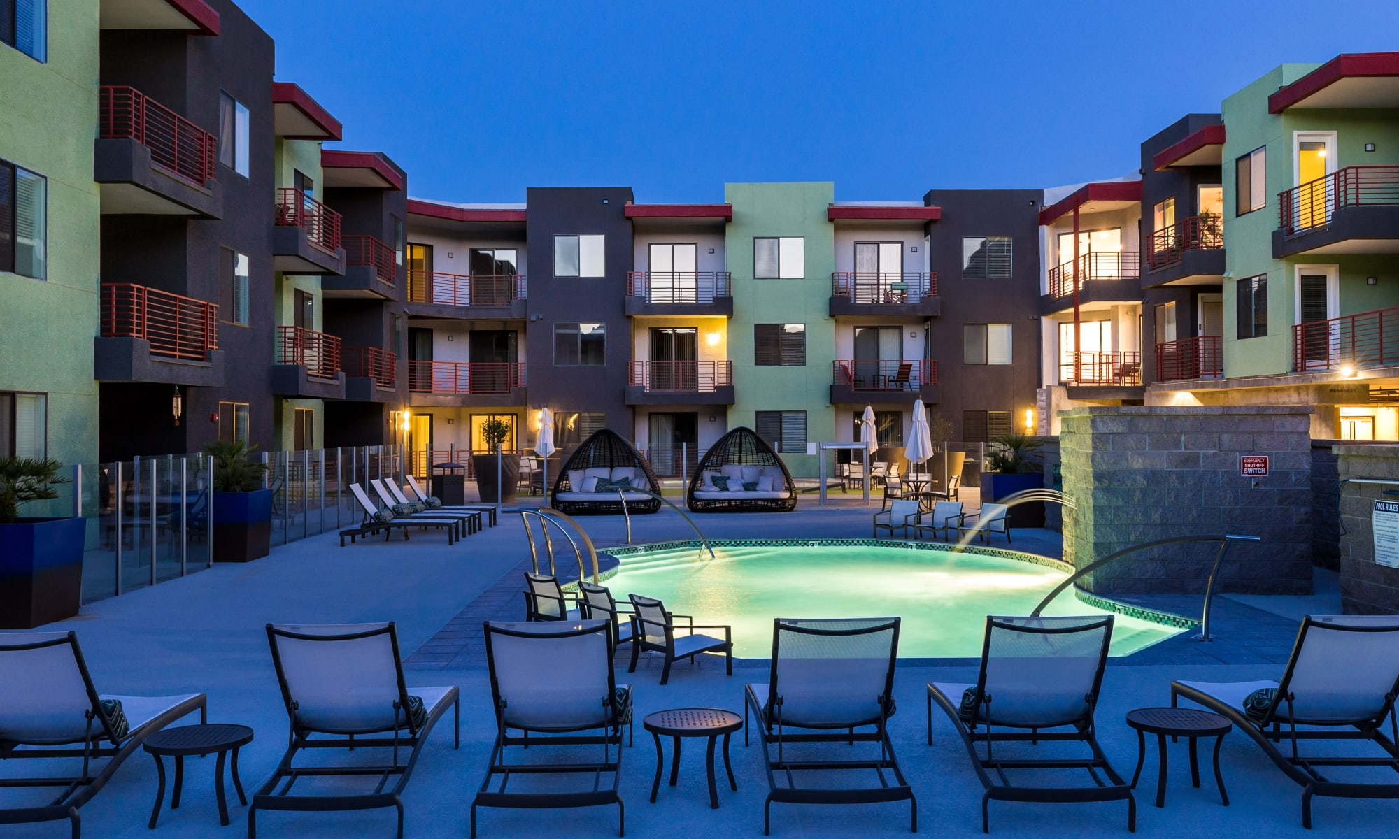 Resort style pool at Park Place at Fountain Hills in Fountain Hills, Arizona