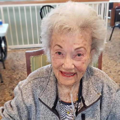 A happy resident at FountainBrook in Midwest City, Oklahoma